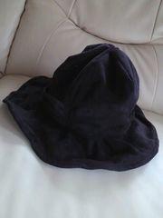 【新品同様】フレア帽子*黒