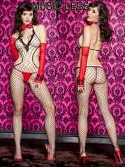 80A)LA発MUSICLEGSボディストッキング黒セレブB系網タイツコスチューム衣装ダンサー