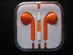 新品 iPhone iPod touch用 イヤホンマイク 【オレンジ】