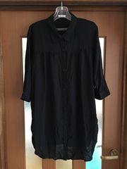 新品/3L/大きいサイズ/ロングシャツ/黒