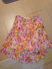リエンダriendaウエストゴム花柄スカート春夏物sizeフリー丈48�p