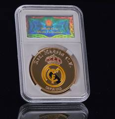 Real + Ronaldo サイン入り記念コイン 24k Gold 金