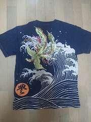 ☆新品[豊饒天下]荒波に鳳凰 刺繍 半袖Tシャツ スカジャン好きにも
