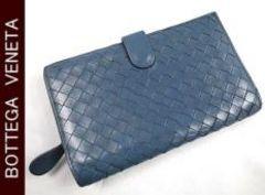 正規本物ボッテガ■イントレ財布■人気のブルー