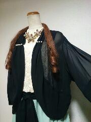 ★新品タグ38号(7L)★お洒落ドレス2点セット