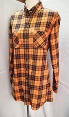 ◆Moussyマウジー/チェック柄ネルシャツ ボタンダウン/サイズ2