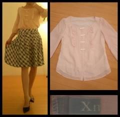 キスミス☆ちびリボン飾り 涼しげ7分袖 フェミニントップス 35 M