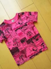 中古アメコミTシャツ120ピンクpartyparty