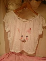 TRALALAトゥララ☆猫ちゃんドット柄Tシャツ