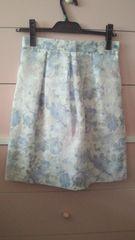 レッセパッセ ボーダーフラワーオパールスカート 美品