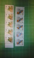 アメリカ1c×5・45c×5未使用切手帳($2.30)♪