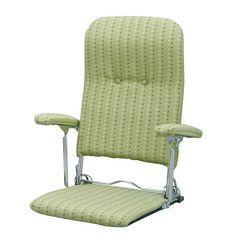 折りたたみ座椅子 グリーン YS-1046_GR