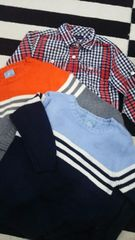 【GAP TOMMY】美品 男の子90〜95�pニットシャツ3枚まとめ売り