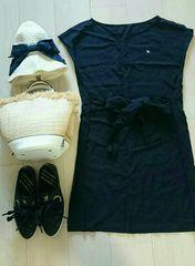 アーノルドパーマ Tシャツワンピース ブラック サイズ2
