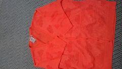送料込オレンジカーデ七分袖4L未使用