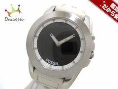 FOSSIL(フォッシル) 腕時計 BG-2209 ボーイズ 革ベルト 黒×白