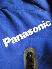 Panasonic パナソニック プリント ジャンパー ブルー Lサイズ 軽防寒 ジャケット