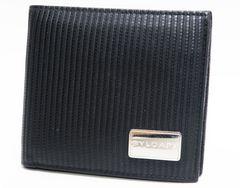 BVLGARIブルガリ 二つ折り財布 ミレリゲ レザー 黒 正規品