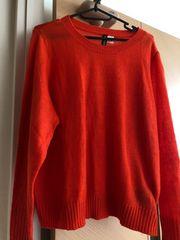 H &M。きれいなオレンジ色セーター。