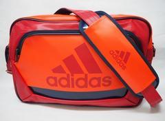 adidas アディダス ラバー エナメルバッグ ショルダーバッグ 赤