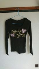 CORNFLAKEの黒の長袖Tシャツ
