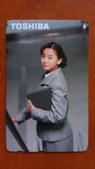 未使用 テレカ TOSHIBA桜井幸子 額面500円