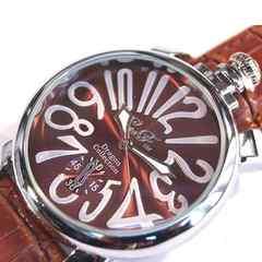 ブラウン×シルバー大人の品格★デザイン腕時計★CF☆