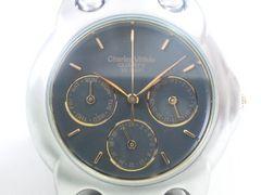 9394/シャルルホーゲル★定価6万円位人気のブラックダイヤルメンズ腕時計