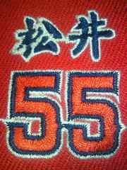 アメリカ 野球 エンジェルス 松井秀喜 帽子 キャップ レッド 刺繍 55