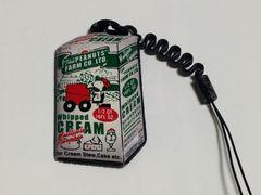 スヌーピー パックのクリーム 携帯画面クリーナーストラップ