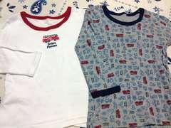 男の子用消防車長袖インナーシャツ2枚セットサイズ95�p