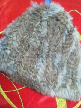 MOUSSYマウジー天然毛皮ラビットファー帽子ふわふわ本物毛皮防寒