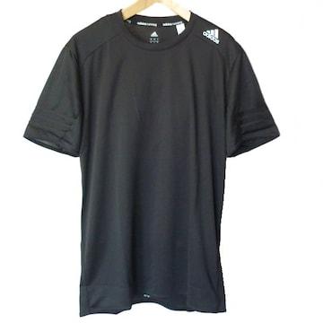 新品◆送料無料◆アディダス 黒ランニングTシャツ(M)