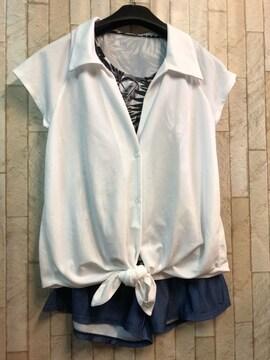 新品☆S服のような水着4点セット♪タンキニ・シャツ付き☆b392
