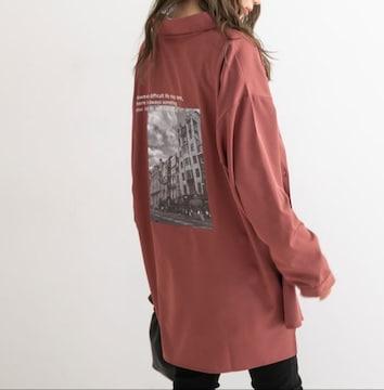 夢展望★バックプリント シャツ