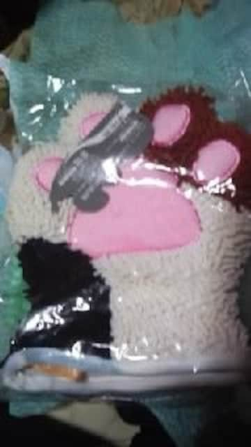 ミトンモップ【ネコの手】ミケネコ  < 女性ファッションの