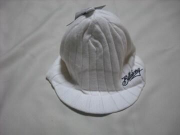 mb359 男 BILLABONG ビラボン つば付き ニット帽 ビーニー 白