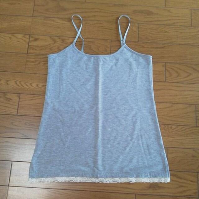 新品ミエルクリシュナベーシックカラー裾レースキャミ  < 女性ファッションの
