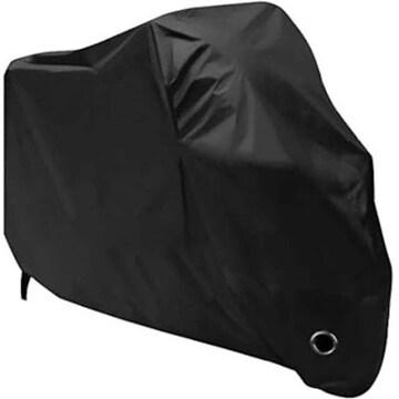 黒色 溶けない バイクカバー HBLIFE 厚手 丈夫 原付 防水 耐熱