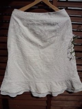 ローラアシュレイ フレアースカート*膝たけ*新品 お式などにも