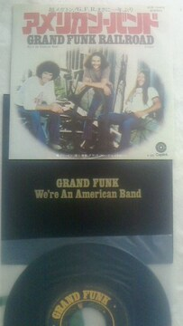 グランドファンクレイルロード アメリカンバンド 7インチ シングルレコード 男ロック名曲