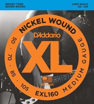 ダダリオ ベース弦 ニッケル Long Scale .050-.105 EXL160