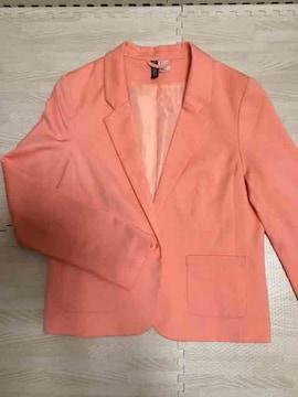 【美品】カラージャケット/H&M/サーモンピンク/M/差し色に