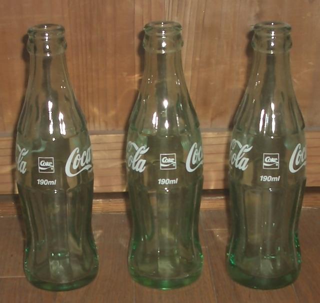コカ・コーラ190ml瓶3本セット < ホビーの