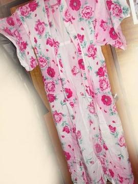 松田聖子☆姫系*華やかな花柄模様*レディース浴衣(濃ピンク)