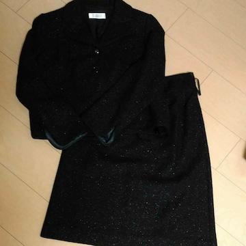 高島屋 フォーマル黒スーツ サイズM 38