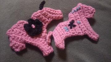 手編みのナイロンタワシ、ダーナラホース、4枚