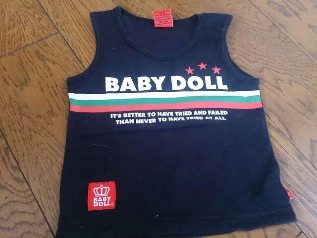 80 BABY DOLL 黒 超美品  < キッズ/ベビーの