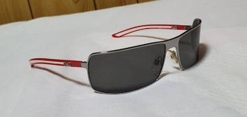 正規良 レア ドルチェ&ガッバーナ D&Gロゴ メタリックサングラス黒×赤 オープンクリア
