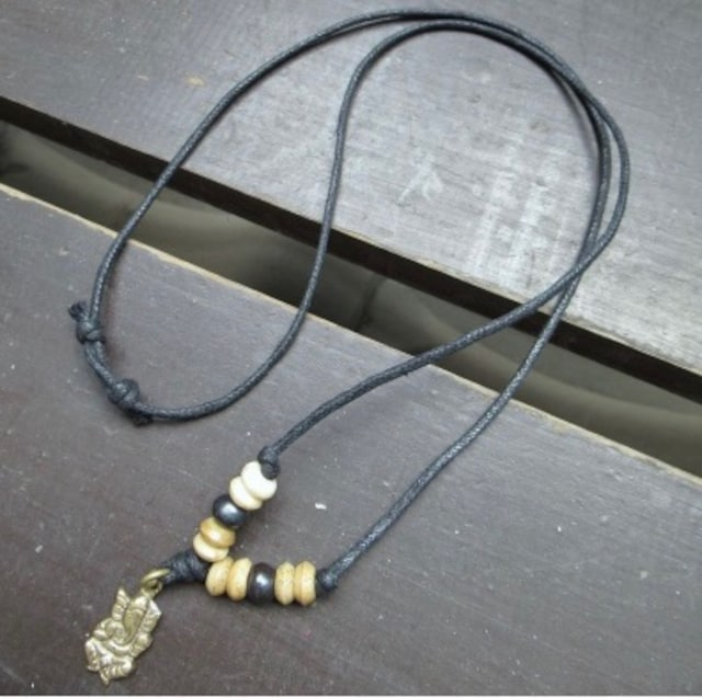 真鍮トップネックレス*ガネーシャ2 < 男性アクセサリー/時計の